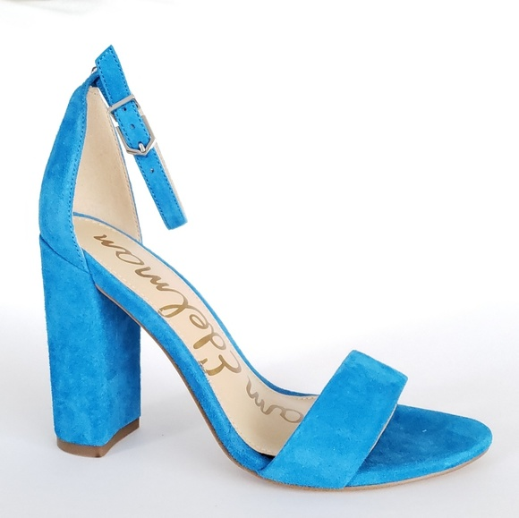 13370c7e162 Sam Edelman blue suede heels